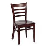 Royal ROY 8001 W - Ladder Back Chair with Walnut Vinyl (Case of 2)