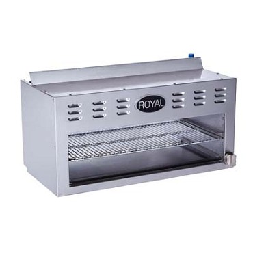 "Royal Range RCM-60 - Cheesemelter, Gas, 60"" wide, (2) adjustable infrared burners"