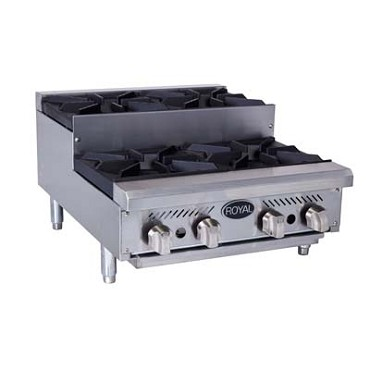 "Royal Range RHP-48-8SU - Step-up Hotplate, Gas, countertop, 48"" wide, (8) 30,000 BTU"