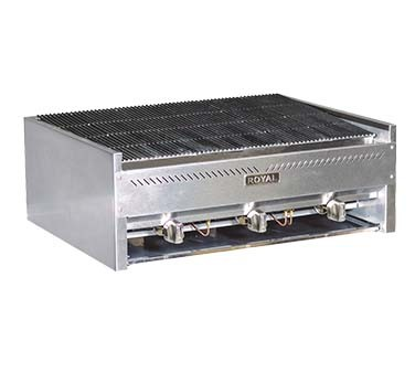 "Royal Range RSCB-18 - Snack Char-Rock Broiler, Gas, countertop, 18"" wide, lava rock, ("