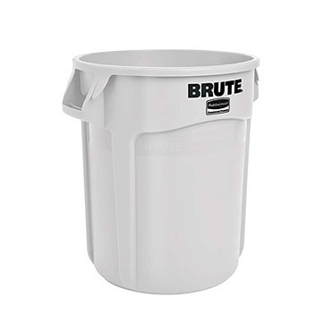 Rubbermaid FG261000WHT - Trash Container- 10 gallon- Round