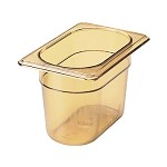 Rubbermaid FG201P00AMBR - Hot Food Pan- 1/9 size, 4