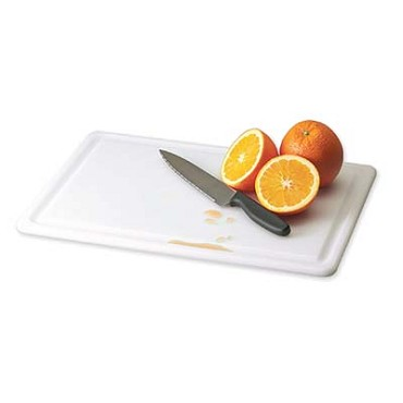 "San Jamar CB152012GVWH - Cutting Board, 15"" x 20"" x 1/2"" , grooved, white, (Case of 6)"