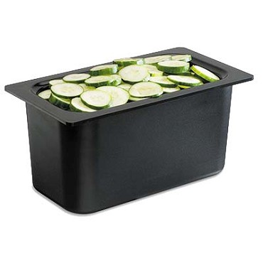 "San Jamar CI7003BK - Food Pan, refrigerant filled, 1/3 size, 6"" deep, (Case of 6)"