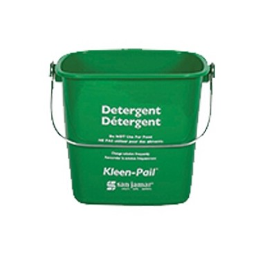 San Jamar KP97GN - Kleen-Pail, 3 quart, plastic, green - soaping solution printing