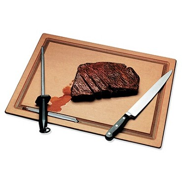 "San Jamar TC152012GV - Cutting Board, 20"" x 15"" x 1/2"", grooved, resin, NSF, (Case of 6)"