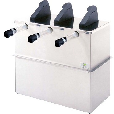 Server 7050 - SET-DI Server Express Triple Dispenser, drop-in, polished lid in