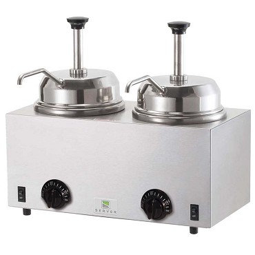 Server 81230 - FSP Twin Fudge Server, with pumps, stainless steel construction,