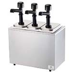 Server 79810 - Serving Bar Combo, Thin, Thick & Particulate Dispenser, Stainless Base Includes (3) Pumps & Jars