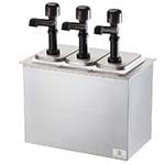 Server 79820 - Serving Bar Combo, Drop-In, Thin, Thick & Particulate Dispenser, Base Includes: (3) Pumps & Jars