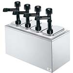 Server 79830 - Serving Bar Combo, Thin, Thick & Particulate Dispenser, Base Includes: (4) Pumps & White Jars
