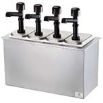 Server 79840 - Serving Bar Combo, Drop-In, Thin, Thick & Particulate Dispenser, Base Includes: (4) Pumps & Jars