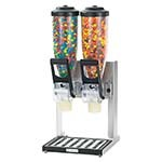"Server 87560 - Product Dispenser, Double, 2 Liter Hoppers, 26-13/16"" X 10-1/8"" X 12-1/16"", Includes Stand, Clear"