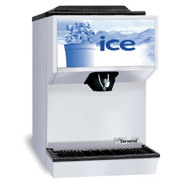SerVend 2706334 - M45 Countertop Ice & Water Dispenser, 45 lbs. ice capacity, manual fill only