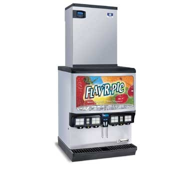 SerVend 2705613 - FRP-250 Ice & Beverage Dispenser, w/ice crusher, (16) selections, (8) flavor shots, 250-lb