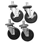Serv-Ware HRC-05 - Caster's set of 4, 2-brake & 2 Non-Brake.