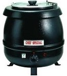 Boswell SK600 - Black Powder Coated Soup Kettle, 10.5 qt. Capacity