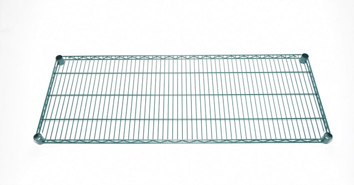 "Skibee SKIWGR1836CWP - Ironguard Shelf, wire, 36""W x 18""D, green epoxy coating"