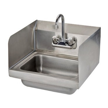 "Skibee SKIHS12SS - Ironguard Hand Sink, wall mount, 10"" x 10"" bowl, left & right splashes"