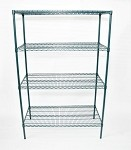 Skibee SKIWGR2448KIT - Ironguard Shelving Unit, wire, 48