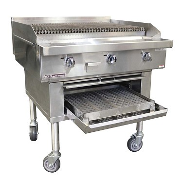 "Southbend P72W-CCCCCC - Wood Smoker Charbroiler, gas, 72"", cast iron grates"