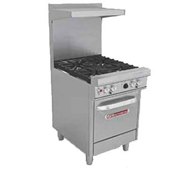 "Southbend 4242E - Restaurant Range, gas, 24"", (4) burners, (1) space saver oven"