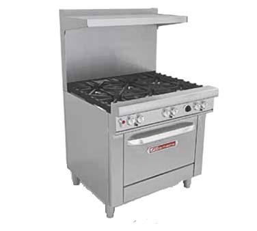 "Southbend H4366A - Restaurant Range, gas/electric, 36"", (5) burners, (1) convection oven"