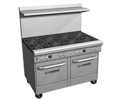 "Southbend 4483AC-3CR - Restaurant Range, gas, 48"", (2) burners, (1) 36"" charbroiler right"