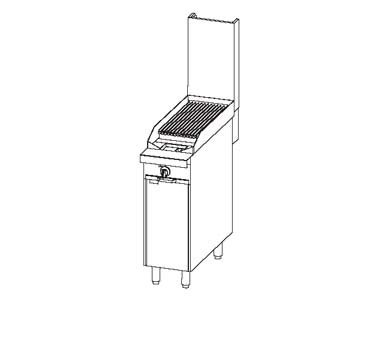 "Southbend P12C-C - Heavy Duty Range, gas, 12"", charbroiler, cabinet base"