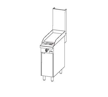"Southbend P12C-G - Heavy Duty Range, gas, 12"" , griddle, 1"" thick plate, cabinet base"