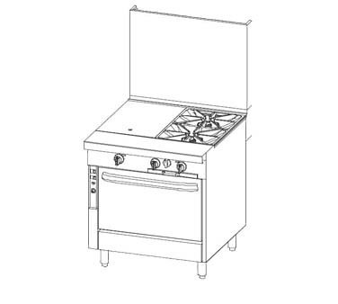 "Southbend P32A-TC - Platinum Heavy Duty Range, Gas, 32"", (1)16"" Griddle Top with 1"""