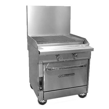 "Southbend P32A-CC - Heavy Duty Range, gas, 32"", charbroiler, (1) convection oven"