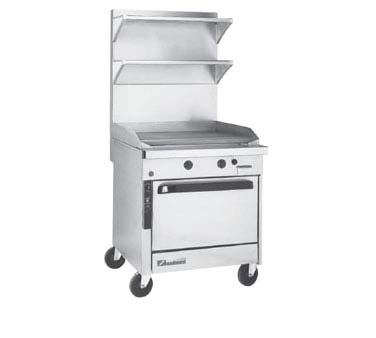 "Southbend P36C-TTT - Heavy Duty Range, gas, 36"", griddle, 1"" thick plate, (1) cabinet base"