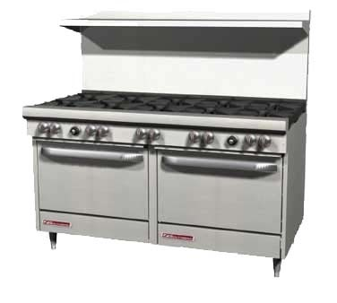 "Southbend S60AD - Restaurant Range, gas, 60"", (10) burners, (1) convection & (1) standard oven"