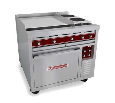 "Southbend SE36T-HHB - Heavy Duty Range, electric, 36"", (2) round hot plates, (2) 12"" hot tops"