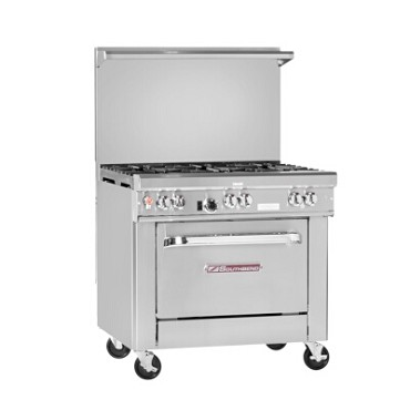 "Southbend 4361D-1GL - Restaurant Range, gas, 36"", (4) burners, (1) 12"" griddle left"