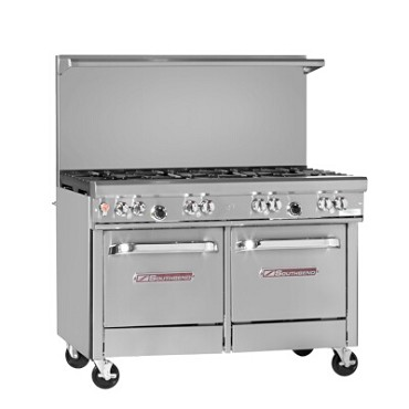 "Southbend 4481EE - Restaurant Range, gas, 48"", (8) burners, (2) space saver ovens"