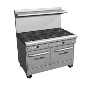 "Southbend 4484EE-2CR - Restaurant Range, gas, 48"", (4) burners, (1) 24"" charbroiler right"