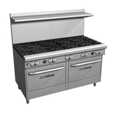 "Southbend 4603AD-6R - Restaurant Range, gas, 60"", (9) burners, (1) standard & (1) convection oven"