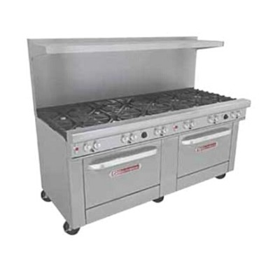 "Southbend 4721AA - Restaurant Range, gas, 72"", (12) non-clog burners, (2) convection ovens"