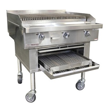 "Southbend P60W-CCCCC - Wood Smoker Charbroiler, gas, 60"", cast iron grates"