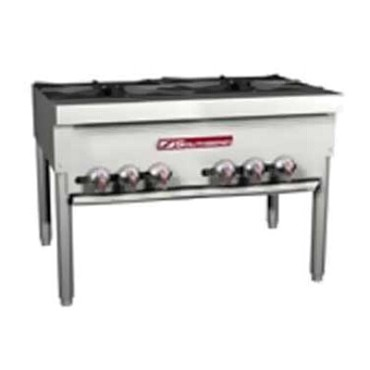 "Southbend SPR-2J - Stock Pot Range, 36"", (2) 3-ring cast iron burners, double"