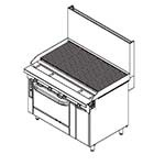 Southbend P48A-CCCC - Platinum Charbroiler Heavy Duty Range Match, Gas, 48