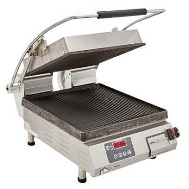 "Star PGT14IE - Sandwich Grill, 14.5""W x 14""D grooved cast iron, electronic ctrls & timer"