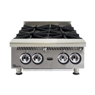 Star 804HA - Ultra-Max Gas Hotplate w/4 30K BTU burners, 24 in.