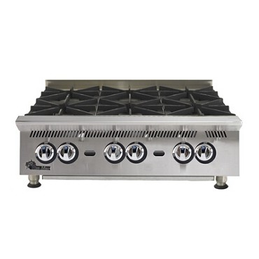 Star 806HA - Ultra-Max Gas Hotplate w/6 30K BTU burners, 36 in.