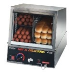 Star 35SSA - Side-By-Side Hot Dog Steamer/Bun Warmer, 170 Hot Dog Cap.