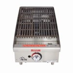 Star 6115RCBF - 40,000 BTU Countertop Gas Charbroiler, 15 in.
