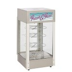 Star HFD-1-CR - See Through Humidified Display Cabinet w/Pizza Racks, 15 in.