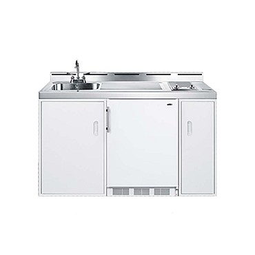 Summit C60ELGLASS - All-In-One Combo Kitchen, one-piece ss top with deep drawn sink, faucet